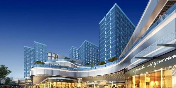 上海龙湖北城天街遮阳窗帘项目