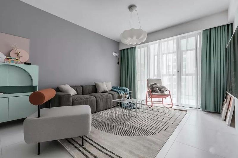 客厅安装这四种类型的窗帘,效果真不错