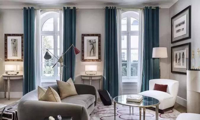 开放式空间的窗帘隔断设计