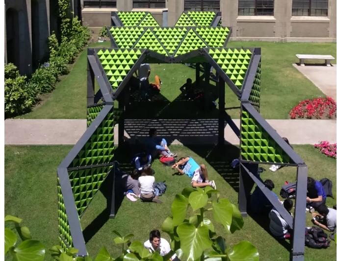 """""""城市垃圾""""也能制作户外遮阳设施"""
