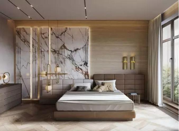 美式风格与中式对比卧室窗帘搭配
