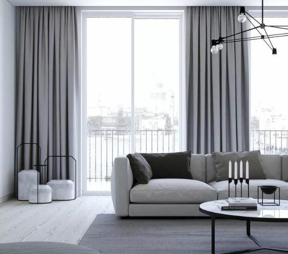 客厅窗帘选什么颜色