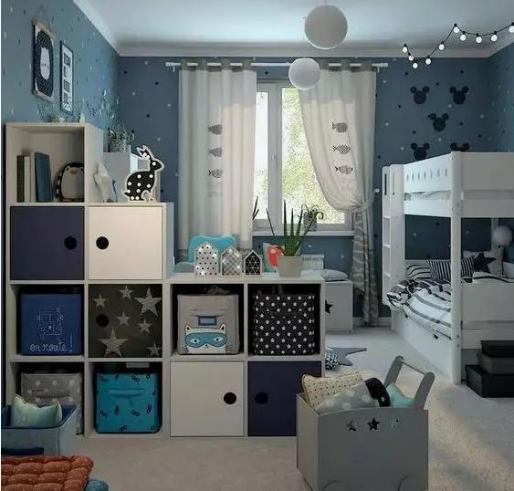 儿童房窗帘的选择是很有技巧