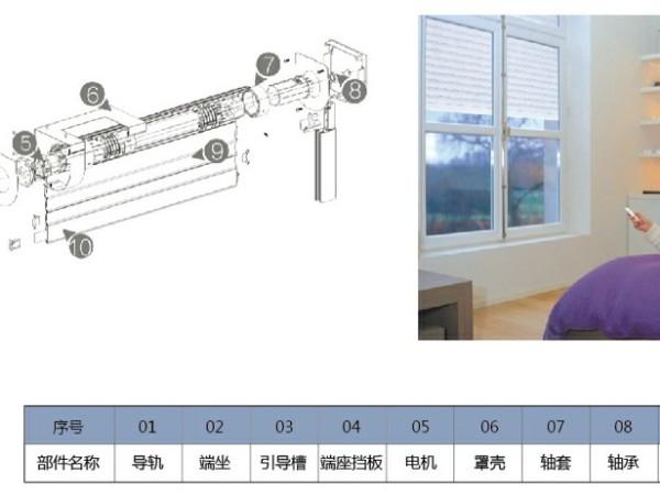 电动卷帘窗结构和手拉皮带卷帘窗结构